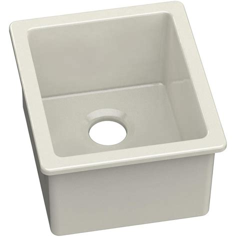 undermount bar sink home depot elkay undermount fireclay 16 in bar sink in biscuit