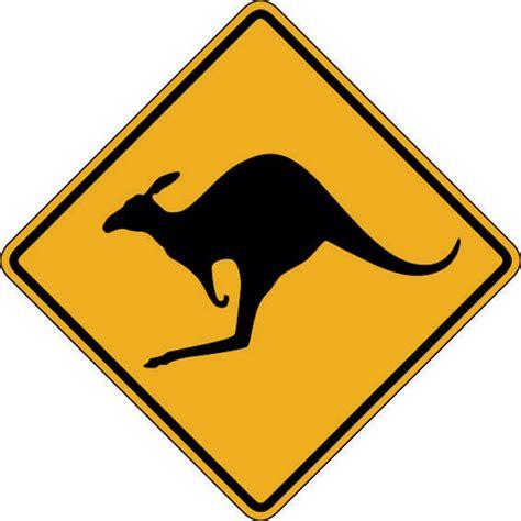 On Line Kitchen Design by Kangaroo Warning Sign Kangaroos Crossing Buy Online