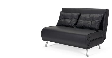 little sofa bed haru small black sofa bed made com