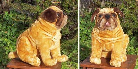 large stuffed pug pug stuffed animal