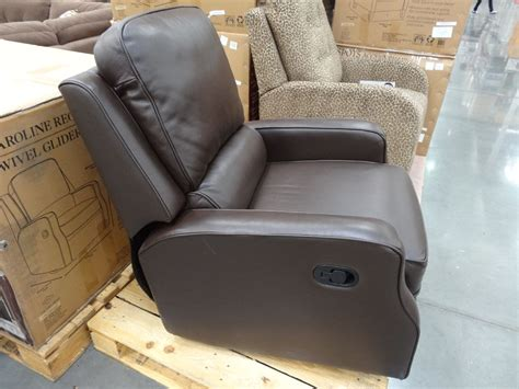 costco recliner chair leather chair recliner swivel synergy caroline leather