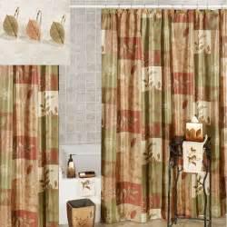Sheffield leaf shower curtain multi warm 70 x 72