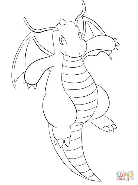 pokemon coloring pages dratini dragonite coloring page free printable coloring pages
