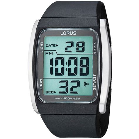 Lorus R2303HX9 Men's Resin Strap Digital Alarm Watch R2303HX9   Lorus from British Watch Company UK
