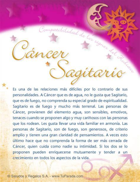 cancer  sagitario