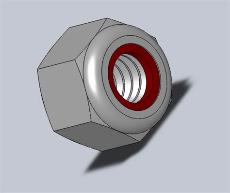 solidworks tutorial nut 1 4 20 nut with nylon insert stl solidworks 3d cad