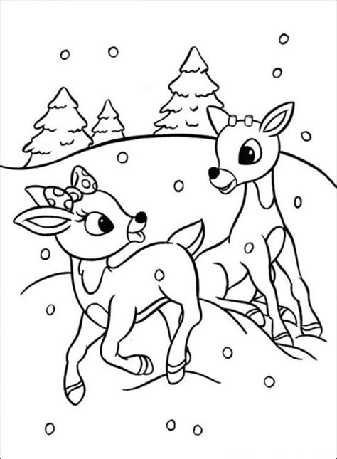 rudolph coloring pages rudolph  red nosed christmas