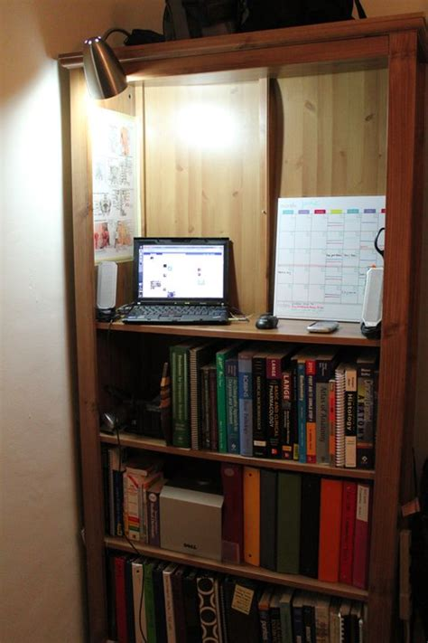 turning a bookcase into a standing desk