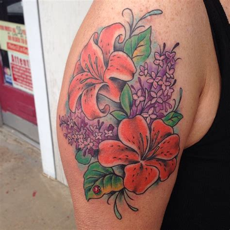 oriental lily tattoo designs 60 colorful flower designs meaning