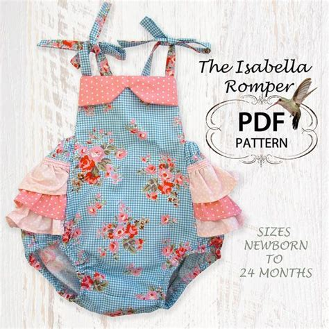 pattern jumpsuit baby baby sewing pattern for romper sunsuit pdf sewing pattern