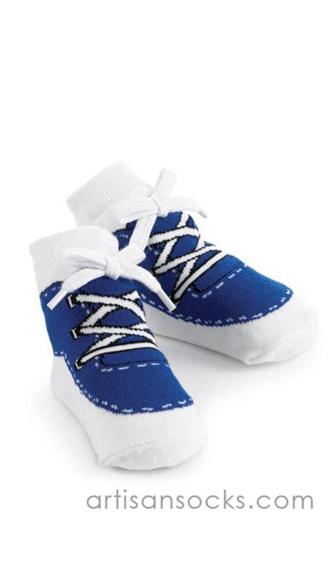 baby sneaker socks mudpie baby socks blue sneaker baby shoe socks