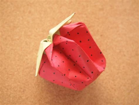 How To Make A Paper Strawberry - fold strawberry origami crafts tutorials and kid
