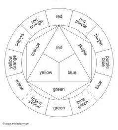 color templates free coloring pages of colour wheel