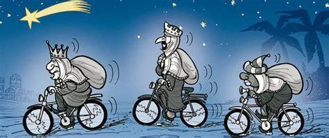 fotos reyes magos en moto pedaleando enero 2014