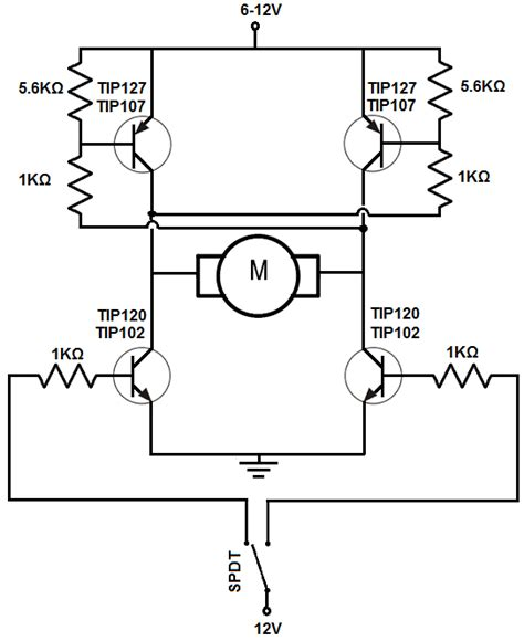 why we use resistor before transistor how to build an h bridge circuit with transistors