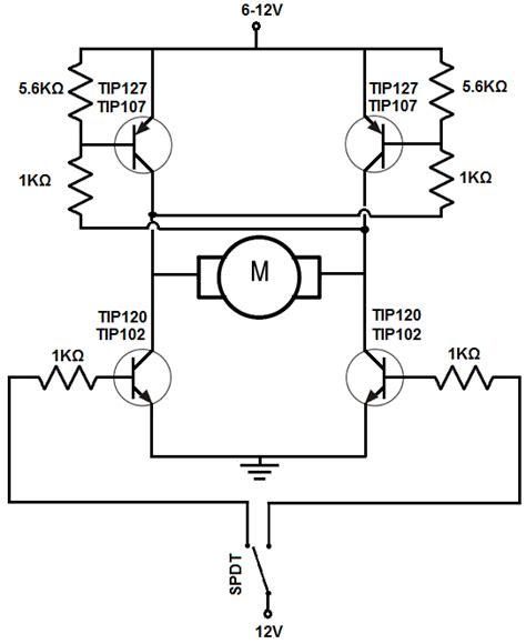 transistor h bridge how to build an h bridge circuit with transistors