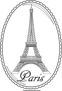eiffel tower coloring pages eiffel tower and free eiffel tower clipart