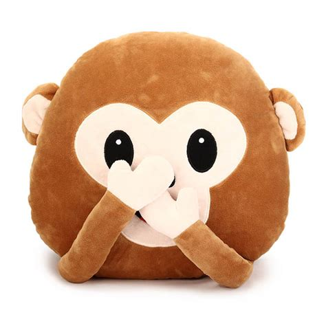 Hairdryer Emoji 35cm creative emoji monkey with throw pillow plush