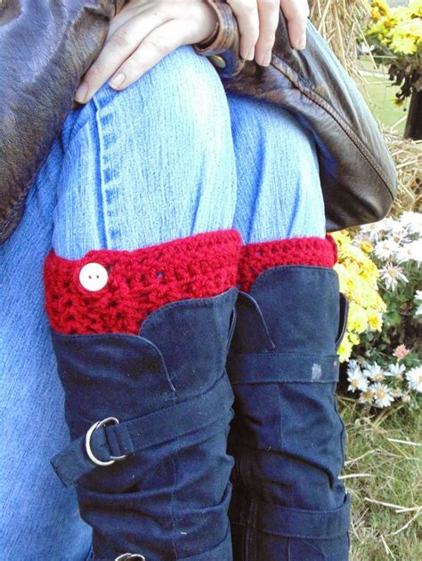 finger knit boot cuffs 17 best images about crocheted boot cuffs on