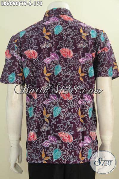 Jual Jaket Motif Bunga Jual Kemeja Batik Modis Warna Ungu Motif Bunga Baju Batik