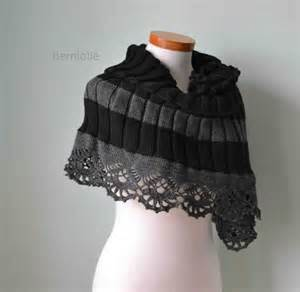 Wrapping An Infinity Scarf Knitted Capelet Wrap Infinity Scarf Shawl With Crochet