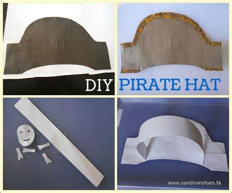 How To Make A Pirate Hat Out Of Paper - busy diy pirate hat sand in my toes