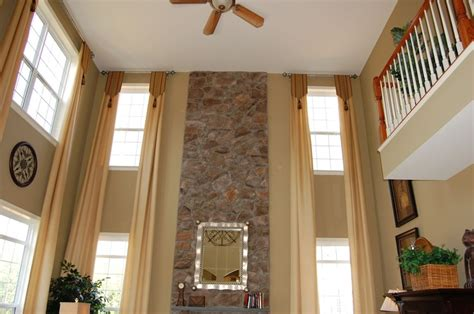 Two Story Curtains Two Story Great Room 2 Story Great Room Ideas Window Treatments Great Rooms And