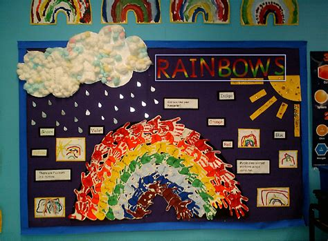 rainbows classroom display photo gallery sparklebox