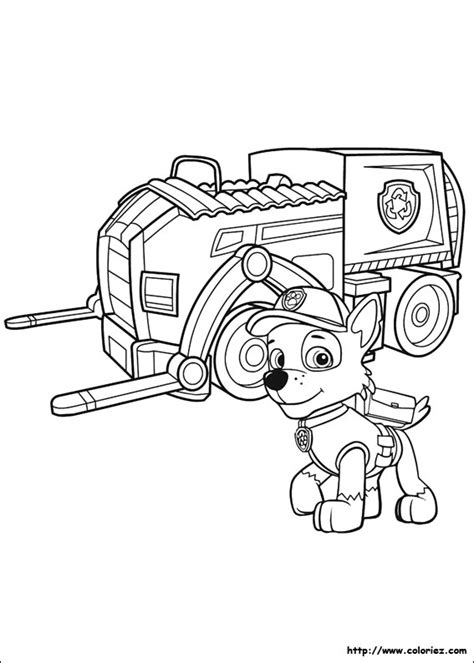 Coloriage Le Camion 224 Recycler De Rocky