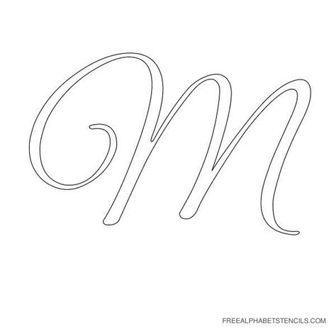 String Letter Templates - cursive alphabet stencils in printable format