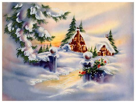 images of vintage christmas scenes vintage christmas card scene cards pinterest vintage