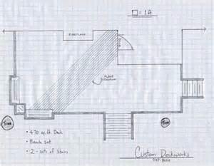 draw deck woodwork drawing deck plans pdf plans
