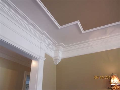 interior door trim molding for 8 foot ceilings design tray coffered ceiling into header over cased opening crown corner blocks design