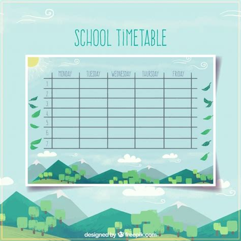 school timetable template free school timetable template with modern landscape design