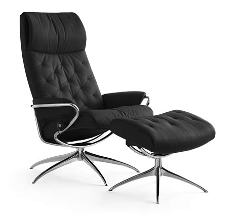 reclining back chair with ottoman ekornes stressless metro high back recliner with ottoman