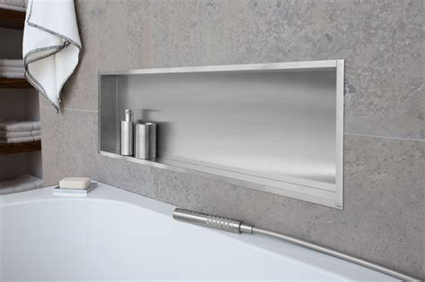 Bathtub Gel Container Box Wall Niche Unique Space Saving Opportunities