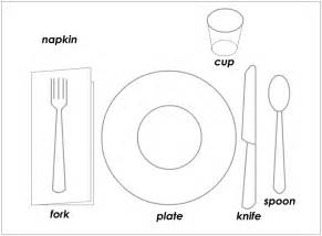 How To Set The Table by Basic Table Setting Diagram For Kids Images Amp Pictures Becuo