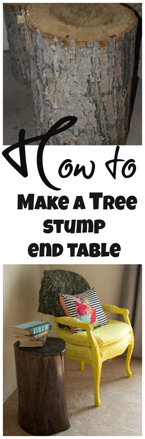 diy tree stump  table debbiedoos