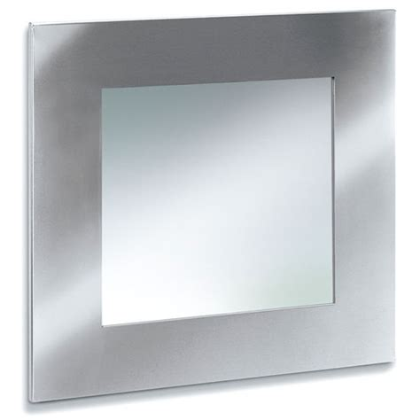 stainless steel bathroom mirror blomus brushed stainless steel square bathroom mirror