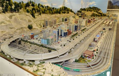 Japanese House Layout by Train Lover Builds Britain S Largest Indoor Model Railway