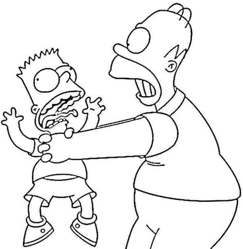 the simpsons coloring pages 2 coloring kids