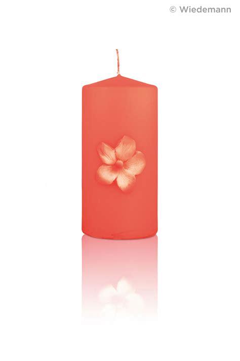 Kerzen Günstig by Neon Kerze Kleeblatt Lachs 150 X 70 Mm Im Kerzen