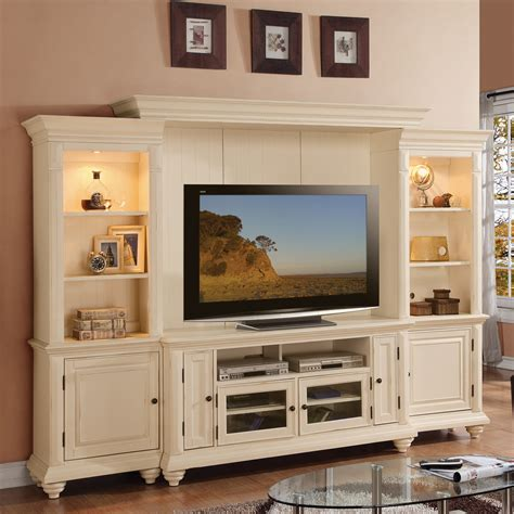 palladian white home entertainment center living