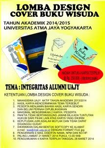 Motivation Letter Atma Jaya Lomba Design Cover Buku Wisuda Tahun Akademik 2014 2015 Uajy
