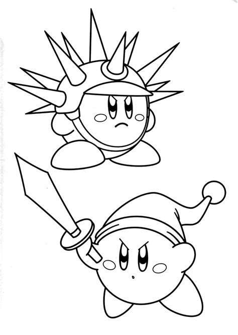 kirby fight coloring pages