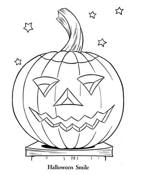 smiling pumpkin coloring pages halloween coloring page sheets smiling pumpkin bluebonkers