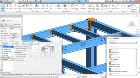 live roof rvt structural steel connections in revit 2017 and advance