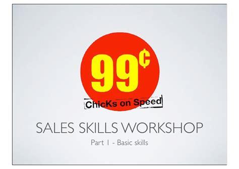 sales skills handouts