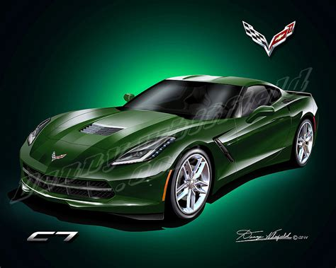 corvette stingray green the gallery for gt lime green corvette