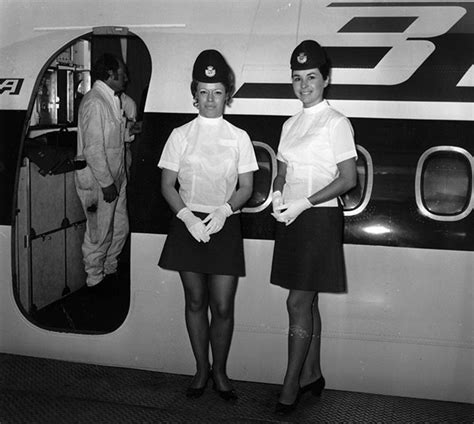 Flight Attendant Fashion by 13 Fantastic Flashback Flight Attendant Fashions